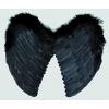 Wing preto penas angel