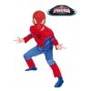 Fato musculoso de spiderman crianças
