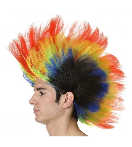 Peluca cresta multicolor