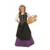 Fato de taberneira medieval menina
