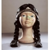 Indian wig with braids