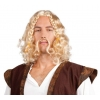 Viking wig blond with mustache