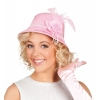 Chapéu rosa mulher