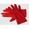 Rote kurze handschuhe