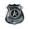 Plaque de police en métal