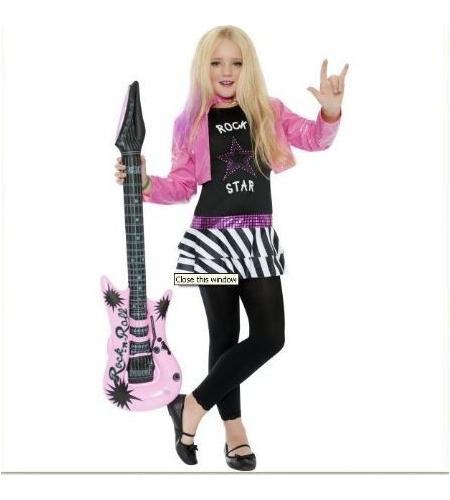 Chaqueta y top estrella de rock