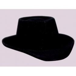 Cowboy flocking black hat