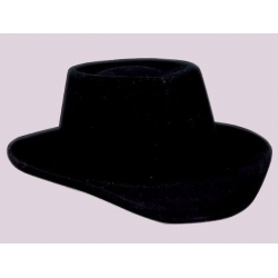 Sombrero tejano flocado negro