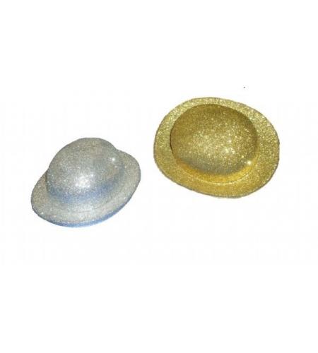 Bowler glitter hat