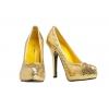 Plateau Schuhe mit Pailletten