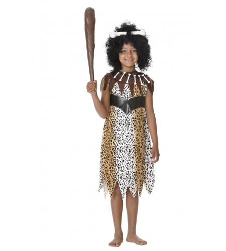 Cavewoman kids costume