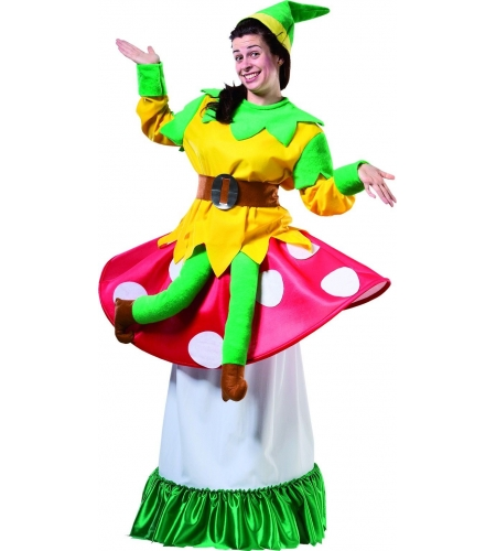 Goblin on a mushroom adult costume