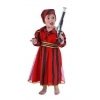 Piratin kostüm mit roten streifen für babys