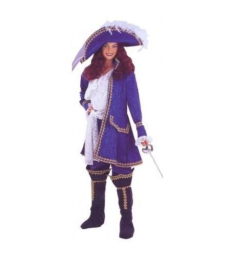 Disfraz mosquetera azul