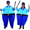 Familia policías gordos