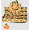 Kürbisformiges horror halloween kerze. 10 cm.