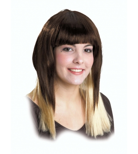 Wig long hair and blond tips