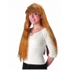 Wig with long smooth hair with bangs