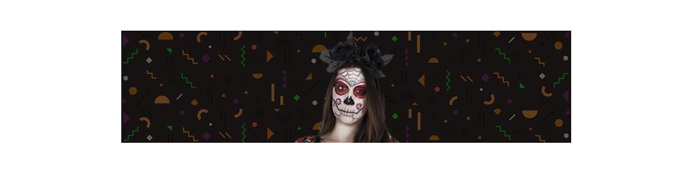Halloween maquilhagem e decoração